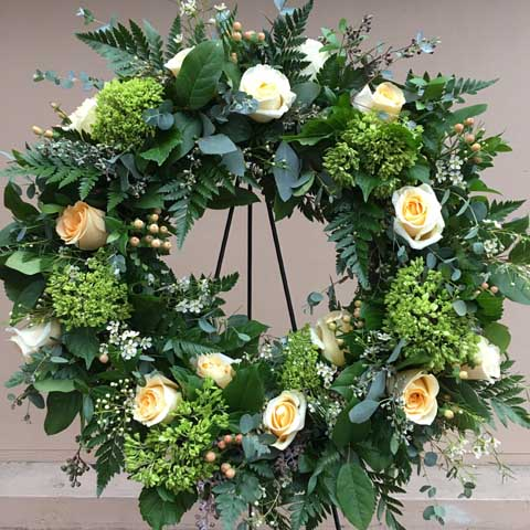 Serenity Funeral Flower Wreath