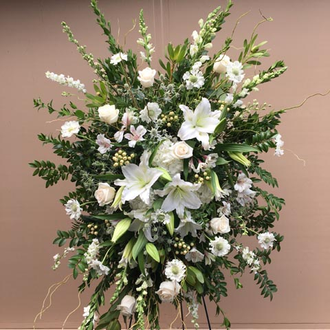 Breathtaking White Standing Flower Spray