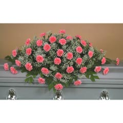 Pink Carnation Casket Flower Spray