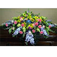 Colorful Mix Casket Flower Spray