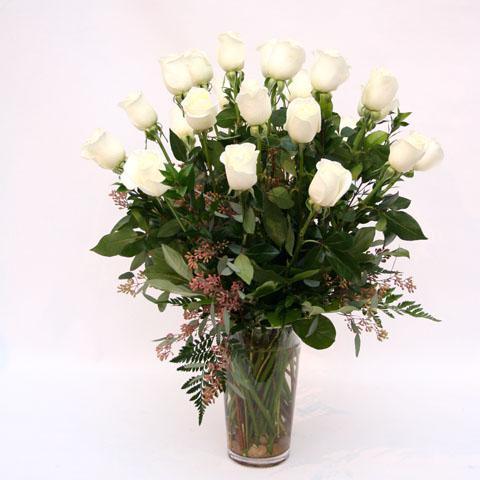 24 long stem white roses fa0142 17000 flowers portland real 24 long stem white roses mightylinksfo