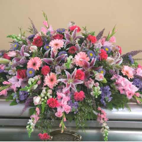 Spring mix casket spray cs0010 44995 flowers portland real spring mix casket spray mightylinksfo