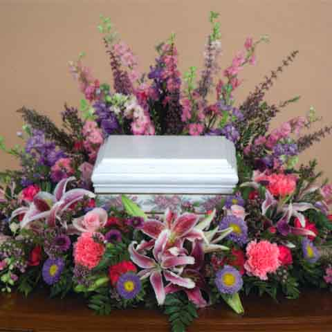 SPRING MIX URN CENTERPIECE - Click Image to Close