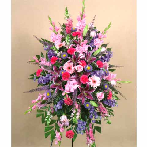 Spring mix standing spray easelpinkmix2 30000 flowers spring mix standing spray mightylinksfo