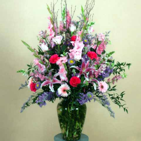 SPRING MIX VASE ARRANGEMENT - Click Image to Close