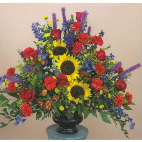 Sunflower Vase Arrangement Vasesunflower 47500 Flowers