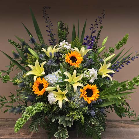Monets Garden Memorial Flower Arrangement