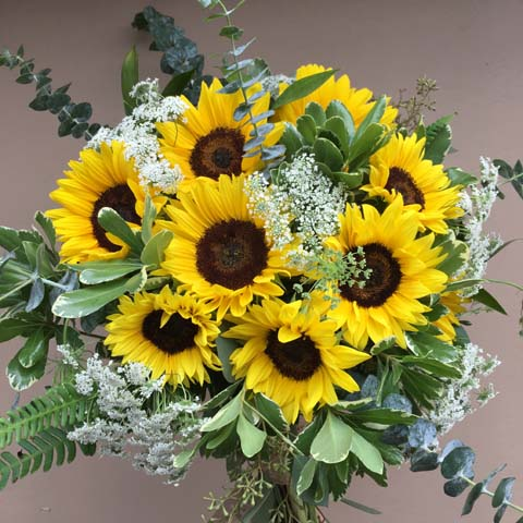 Sunflower Bridal Bouquet