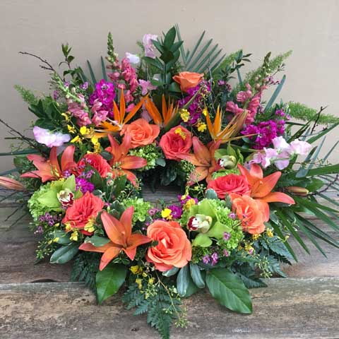 Tropical Urn Flower Arrangement